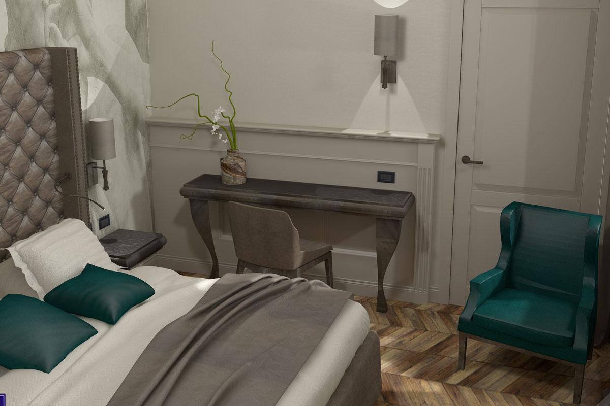 progetto virtuale camere hotel