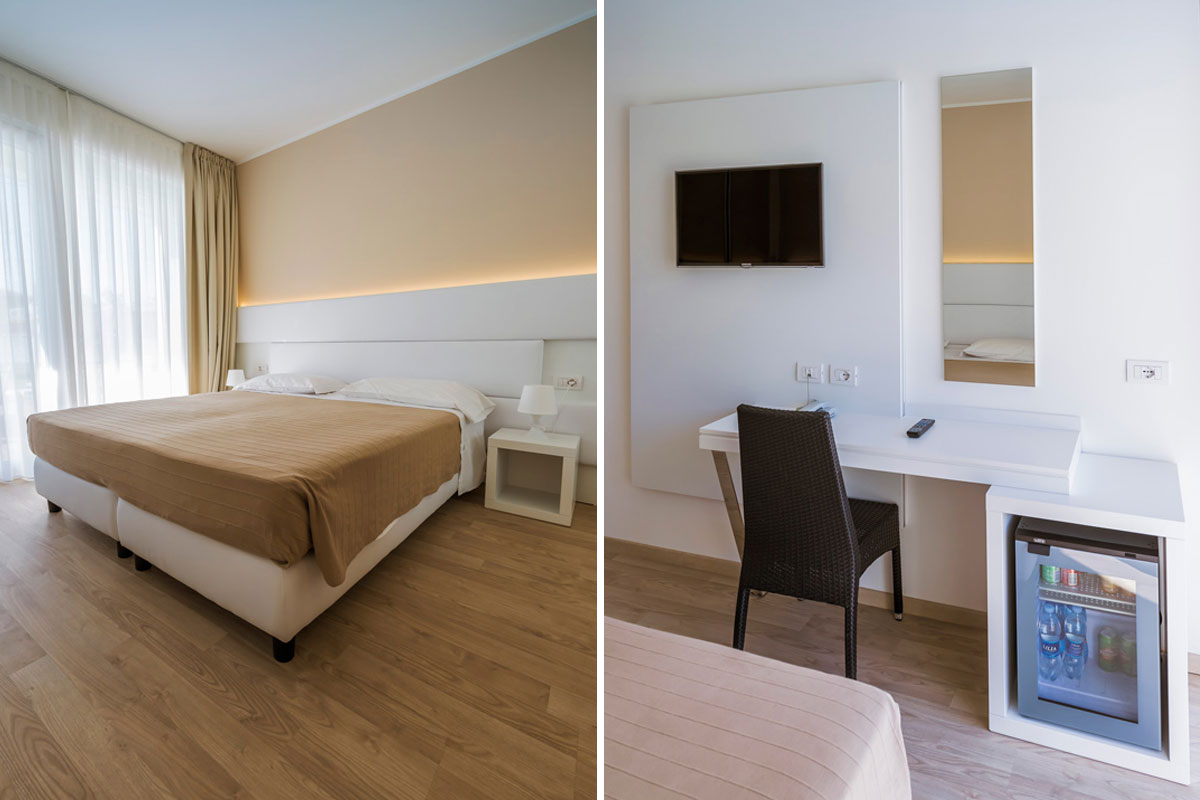 camera hotel arredamento funzionale