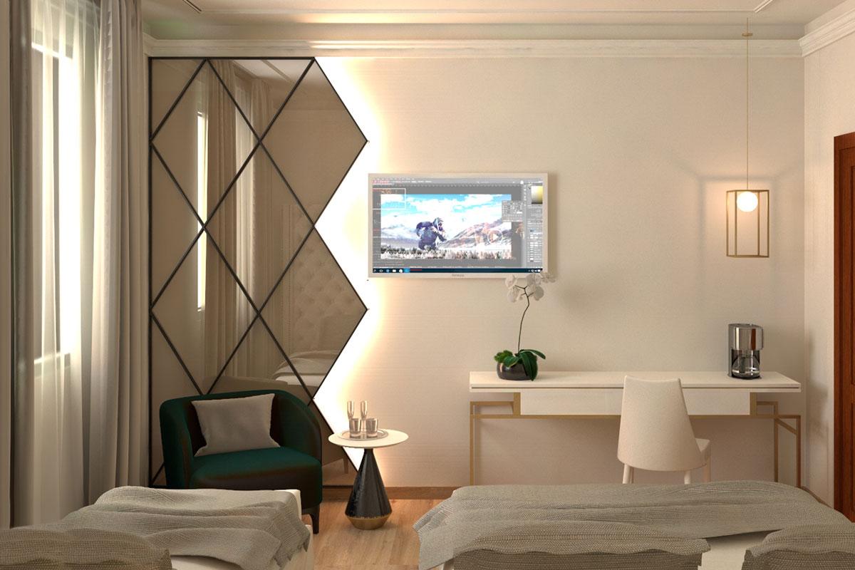 3d arredo camera albergo