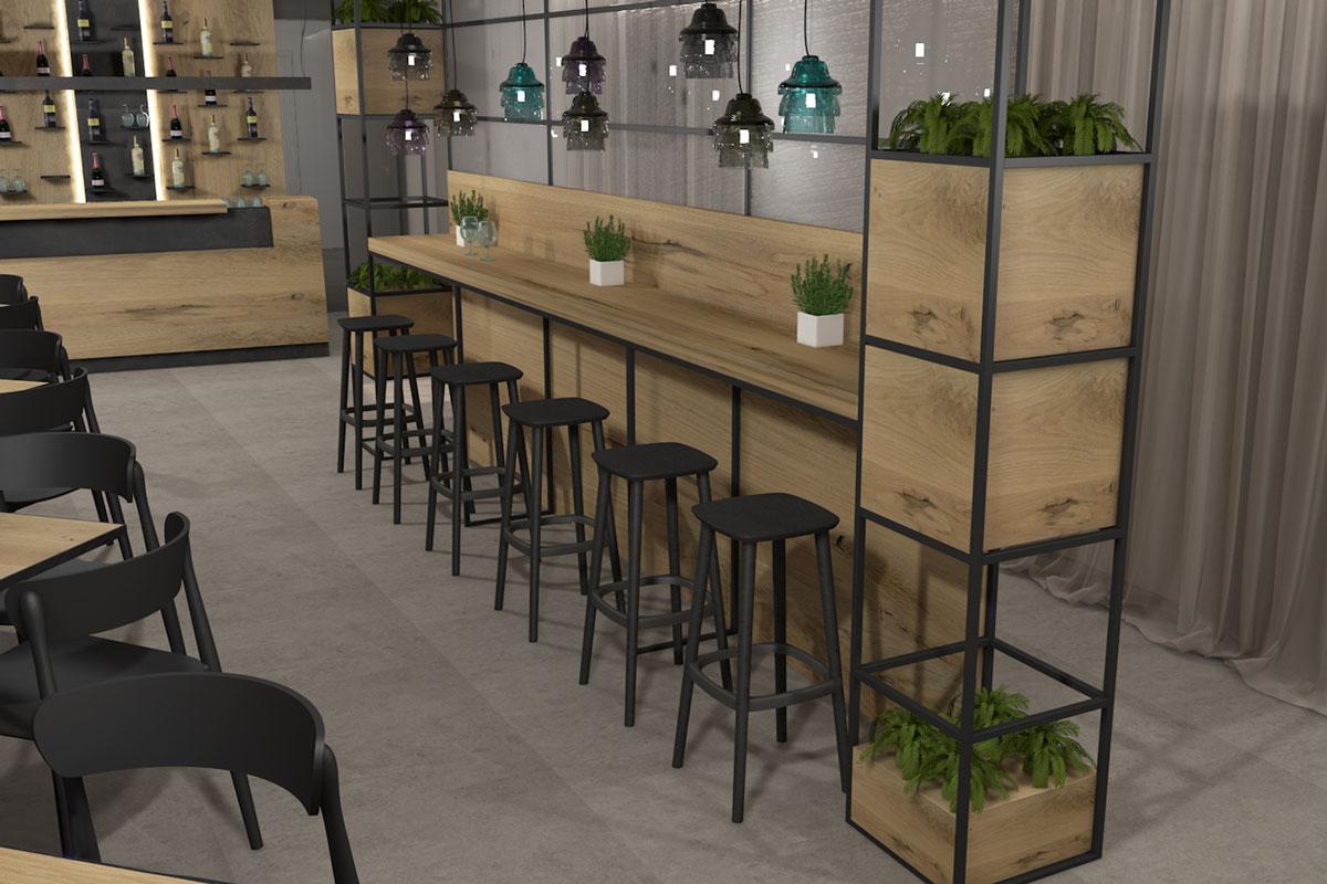 rendering arredo bar