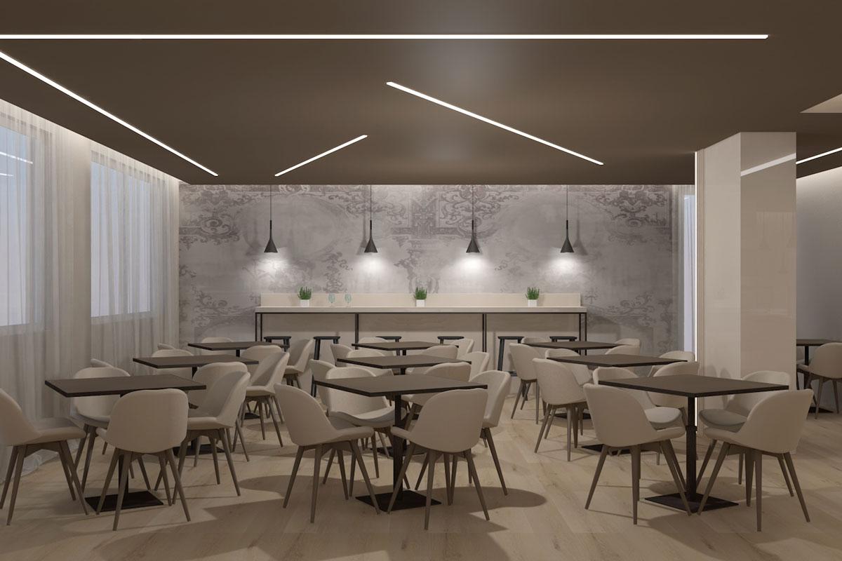 progetto 3D ristorante