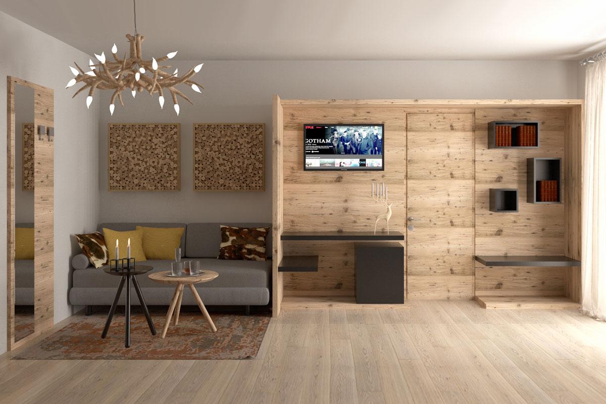 progetto 3d hotel montagna