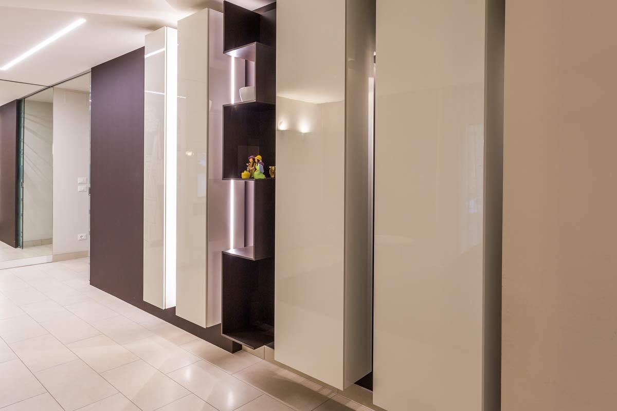 cucina e salotto design contemporaneo
