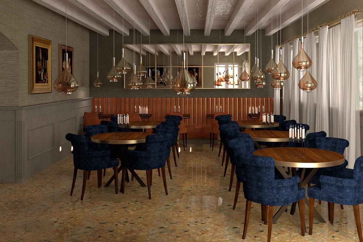 design 3d sala colazioni