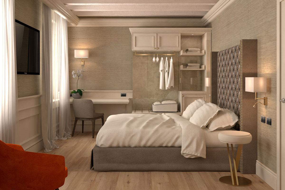 progetto virtuale camera hotel